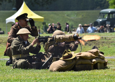 Armistice in Cambridge NZ: 2018 Military Battle Machine Gunner