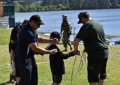 Armistice in Cambridge NZ: 2018 Kids Activity Navy Rope Throw 1
