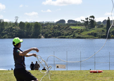 Armistice in Cambridge NZ: 2018 Kids Activity Navy Rope Throw