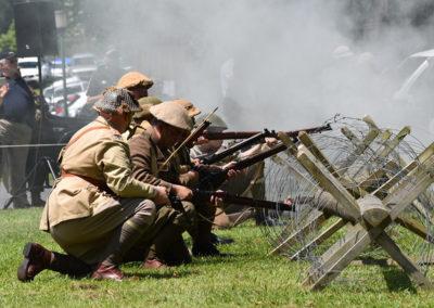 Armistice in Cambridge NZ: 2018 Military Battle Re-enactment 6