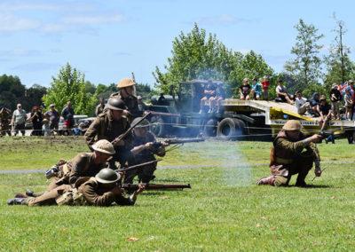Armistice in Cambridge NZ: 2018 Military Battle Re-enactment 4