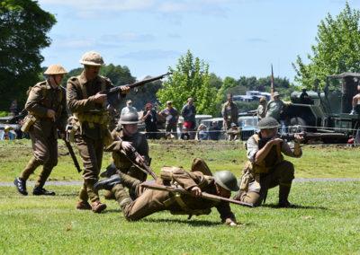 Armistice in Cambridge NZ: 2018 Military Battle Re-enactment 3