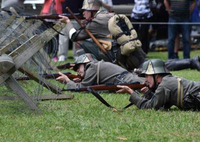 Armistice in Cambridge NZ: 2018 Military Battle Re-enactment 1