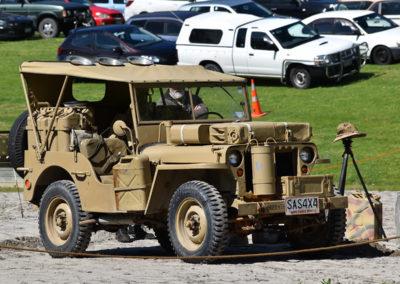 Armistice in Cambridge NZ: 2018 Military Jeep