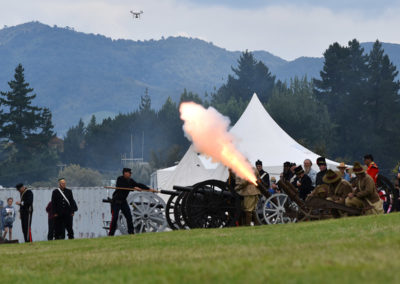 Armistice in Cambridge NZ: 2018 Big Gun Salute