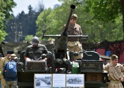 Armistice in Cambridge NZ: 2018 Anti-aircraft Gun and Operator