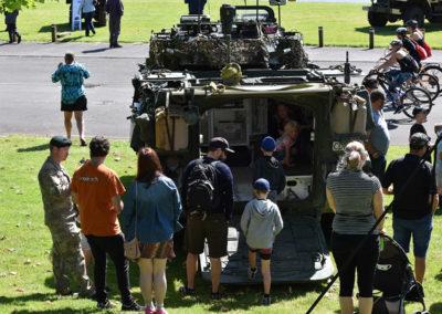Armistice in Cambridge NZ: 2018 Tank on Display