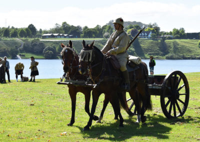 Armistice in Cambridge NZ: 2018 Military Horses with Canon