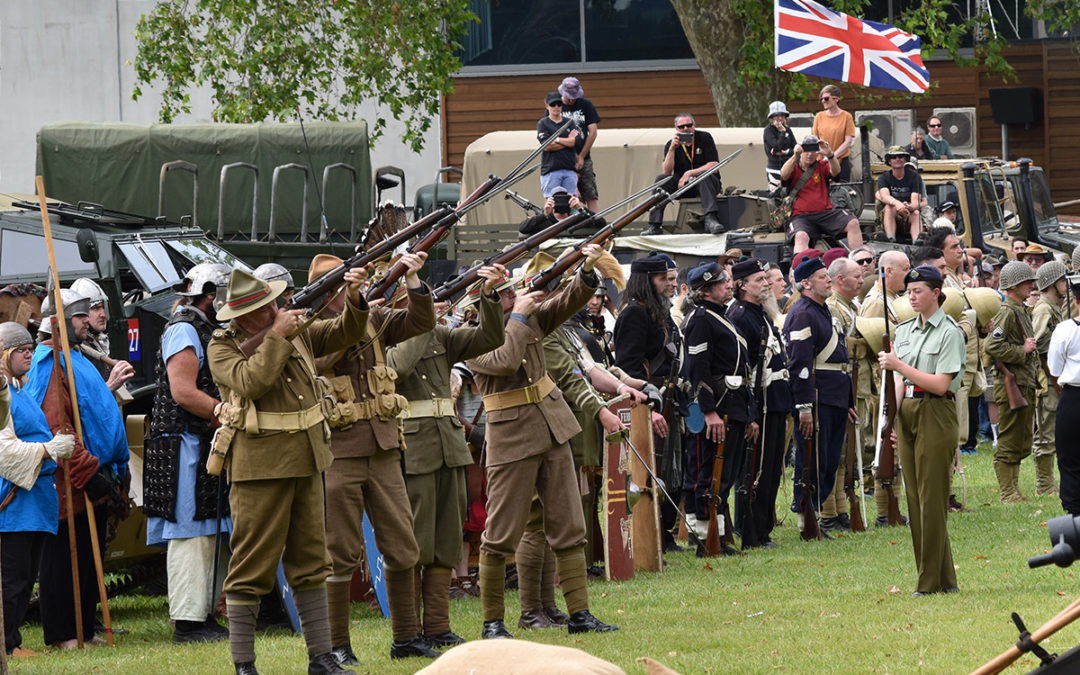 Armistice in Cambridge NZ: 2018 Military Salute