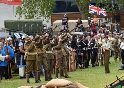 Armistice in Cambridge NZ: 2018 Military Salute