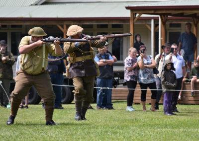 Armistice in Cambridge NZ: 2018 Battle Re-Enactment