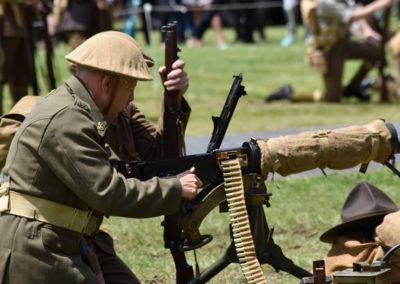 Armistice in Cambridge NZ: 2018 Military Battle Loading Machine Gun