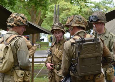 Armistice in Cambridge NZ: 2018 Military Re-enactors at camp