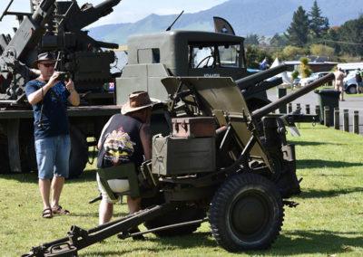 Armistice in Cambridge NZ: 2018 Sitting at an Anti-aircraft Machine Gun