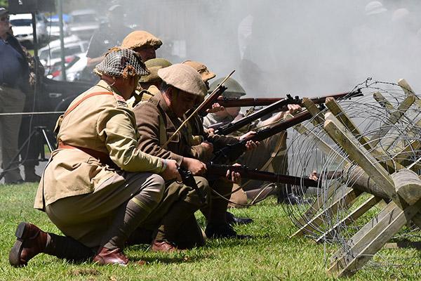 Cambridge in Armistice - Military Battle Re-enactments